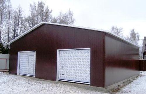Каркасный гараж плюсы и минусы
